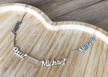 Personalized 18K Gold Plated Name Necklace with 4 names