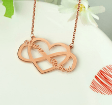 Custom Couple Names Necklace With Heart