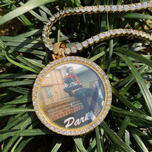 custom photo medallion necklace - hip hop style