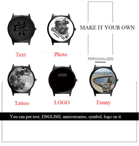 Custom Watch with Your Photo and Text