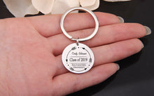 Custom Keychain- Name And School Name Graduate Keyring