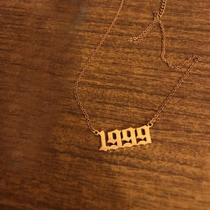 Personalized Year Number Necklace From 1980 to 2019