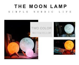 3D Printed Moon Lamp - Night Light For Home Decor