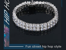 2 Row Zircon Tennis Chain Bracelet- 10mm Wide Bracelet