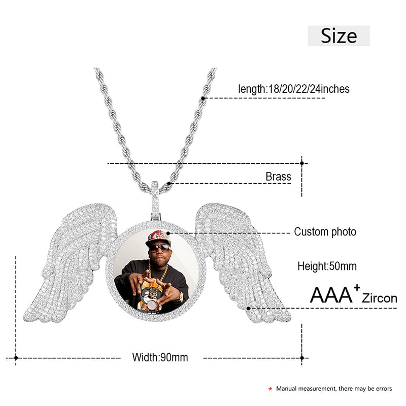 Custom Angel Wing Medallions