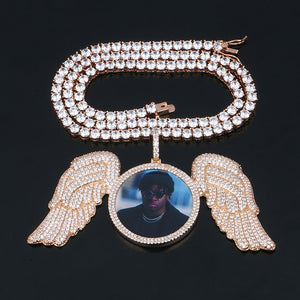 wings medallion tennis chain