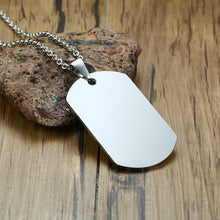 Custom Dog Tag Necklace