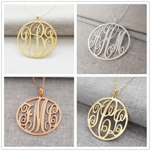 Personalized Circle Monogram Necklace