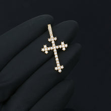 Cross Pendant Necklace - Gold Cross With Bling Crystal