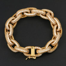 Men's Hip Hop Bracelet- 10mm Exaggerated Punk Thick Cuban Link Chain