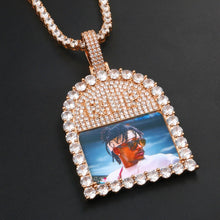 Custom Photo Medallions Pendant Necklace- Gift For Mom And Dad