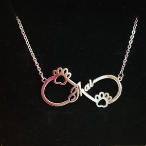 Custom Infinity Name Necklace with Different design