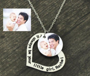 Customized Heart Photo Necklace