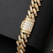 Bling Iced Out CZ Baguette Rapper Hip Hop Bracelet