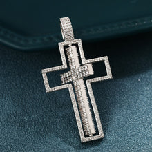 Hip Hop Cross Pendant Necklace- Double Side Rotatable Crucifix Pendant