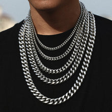 Men's Hip Hop Cuban Link Chain Stainless Steel Necklace