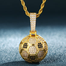 Hollow Football Shape Pendant Necklace- Men's Hip Hop Jewelry