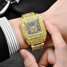 Men's Hip Hop Square Watch Bracelet- Big Dial Military Quartz Clock
