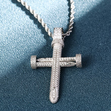 Egyptian Style Hip Hop Cross Pendant Necklace