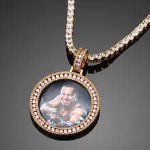 Custom Photo Pendant Necklace- Purple Ice Out  Hip Hop Jewelry