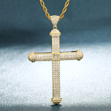 Big Pico Harvey Cross Pendant Necklace- Egyptian Style Hip Hop Jewlery