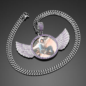 Angel Wing Photo Necklace