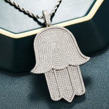 Men's Hip Hop Pendants Necklace- Crystal Zircon Oversize Hand Pendant