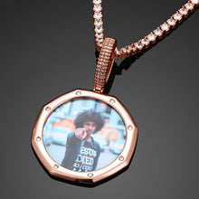 Custom Photo Medallion Pendant Necklace For Mens Hip Hop Jewelry