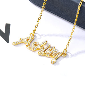 Custom Iced Out Name Pandent Necklace