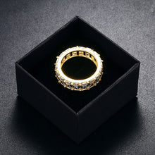 Hip Hop Ring- 1 Row Solitaire Tennis Men's Ring