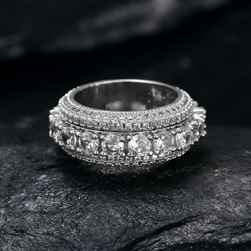 5 Row CZ Men's Iced Out Ring