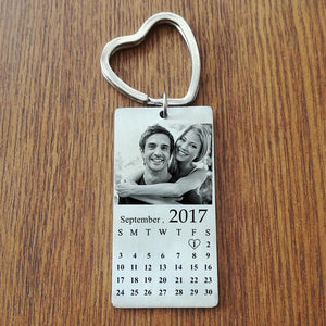 Personalized Photo Calendar Keychain Best gift for couple, him/her