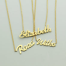 Custom 18k Gold Plated  Name Necklaces Pendants For Women
