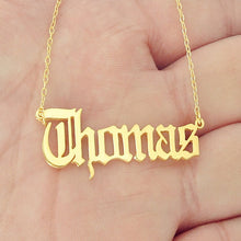 Personalized Name Necklace- Old English Font