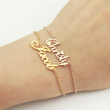 Personalized Name Bracelet 18K Gold Plated