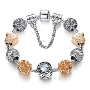 Clover Beads  Charm Bracelet for Women