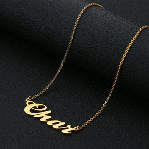 18k Gold Plated Name Necklace-Customized Gift For Her
