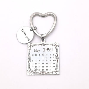 Personalized Calendar Keychain for her/him