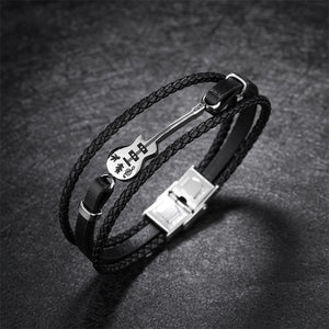Customized Logo Guitar Bracelet for Men