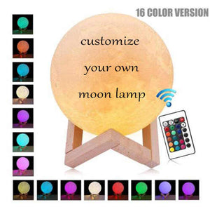 Photo Moon Lamp, Custom 3D Photo Light, Valentine's Day Gifts