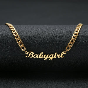 Custom Name Necklace 18k Gold Plated