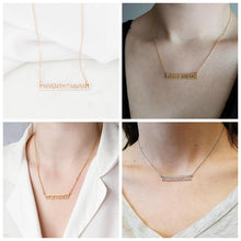 Personalized 18k Gold Plated Name Bar Necklace For Couples