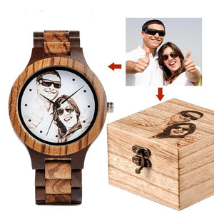Custom Wooden Photo Watch- Mencetak Foto Anda Sendiri