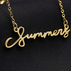 Personalized Handwriting Necklaces For Gift