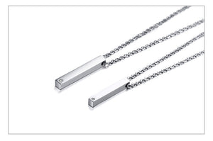 Custom Bar Necklace For Couples