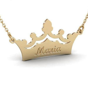 Customized Crown Name Necklace For Women