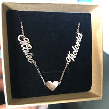 Personalized Name Necklace With Two Name