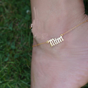 Personalized 18K Gold Plated Anklet Bracelet