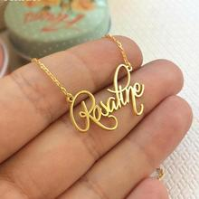 Personalized Name Plate Necklace - Cursive Style