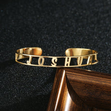 Personalized bangle Bracelet 18k Gold Plated